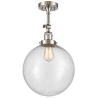 Innovations Lighting 201F-SN-G204-12 XX-Large Beacon 1 Light 12 inch Satin Nickel Semi-Flush Mount Ceiling Light Franklin Restoration