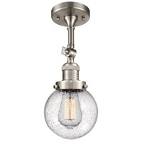 Innovations Lighting 201F-SN-G204-6 Beacon 1 Light 6 inch Satin Nickel Semi-Flush Mount Ceiling Light Franklin Restoration
