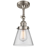 Innovations Lighting 201F-SN-G62-LED Small Cone LED 6 inch Brushed Satin Nickel Semi-Flush Mount Ceiling Light Franklin Restoration