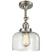 Innovations Lighting 201F-SN-G72-LED Large Bell LED 8 inch Brushed Satin Nickel Semi-Flush Mount Ceiling Light
