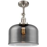 Innovations Lighting 201F-SN-G73-L-LED X-Large Bell LED 12 inch Brushed Satin Nickel Semi-Flush Mount Ceiling Light Franklin Restoration