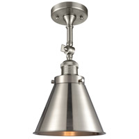 Innovations Lighting 201F-SN-M13-SN Appalachian 1 Light 8 inch Brushed Satin Nickel Semi-Flush Mount Ceiling Light Franklin Restoration