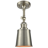 Innovations Lighting 201F-SN-M9-SN-LED Addison LED 5 inch Brushed Satin Nickel Semi-Flush Mount Ceiling Light