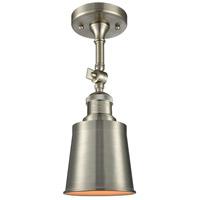 Innovations Lighting 201F-SN-M9-SN Addison 1 Light 5 inch Brushed Satin Nickel Semi-Flush Mount Ceiling Light
