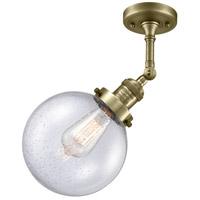 Innovations Lighting 201F-AB-G204-8-LED Beacon LED 8 inch Antique Brass Semi-Flush Mount Ceiling Light