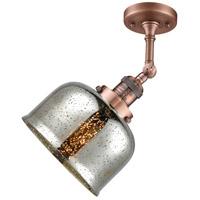 Innovations Lighting 201F-AC-G78 Large Bell 1 Light 8 inch Antique Copper Semi-Flush Mount Ceiling Light Franklin Restoration