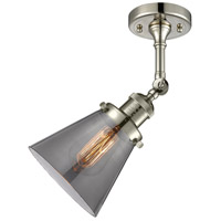 Innovations Lighting 201F-PN-G63-LED Small Cone LED 6 inch Polished Nickel Semi-Flush Mount Ceiling Light alternative photo thumbnail
