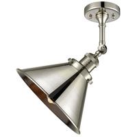 Innovations Lighting 201F-PN-M10-PN Briarcliff 1 Light 10 inch Polished Nickel Semi-Flush Mount Ceiling Light