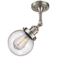 Innovations Lighting 201F-SN-G204-6-LED Beacon LED 6 inch Brushed Satin Nickel Semi-Flush Mount Ceiling Light Franklin Restoration