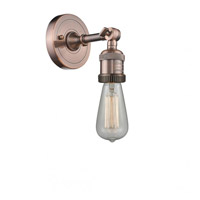 Innovations Lighting 202-AC-LED Bare Bulb LED 5 inch Antique Copper Sconce Wall Light Franklin Restoration