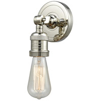 Bare Bulb LED 5 inch Polished Nickel ADA Wall Sconce Wall Light