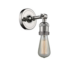 Innovations Lighting 202-PN-LED Bare Bulb LED 5 inch Polished Nickel Sconce Wall Light