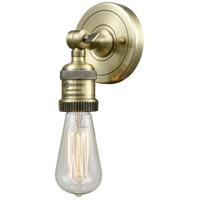 Innovations Lighting 202ADA-AB-LED Bare Bulb LED 5 inch Antique Brass ADA Sconce Wall Light Franklin Restoration