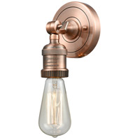 Innovations Lighting 202ADA-AC-LED Bare Bulb LED 5 inch Antique Copper ADA Sconce Wall Light, Franklin Restoration
