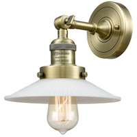 Innovations Lighting 203-AB-G1 Halophane 1 Light 9 inch Antique Brass Sconce Wall Light Franklin Restoration