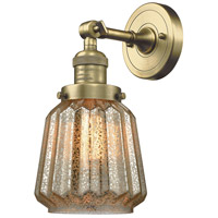 Innovations Lighting 203-AB-G142-LED Chatham LED 6 inch Antique Brass Sconce Wall Light