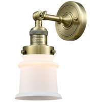 Innovations Lighting 203-AB-G181S Small Canton 1 Light 7 inch Antique Brass Sconce Wall Light Franklin Restoration