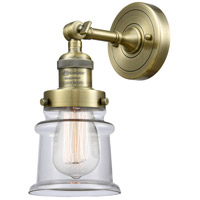 Innovations Lighting 203-AB-G182S Small Canton 1 Light 7 inch Antique Brass Sconce Wall Light Franklin Restoration