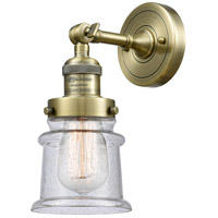 Innovations Lighting 203-AB-G184S-LED Small Canton LED 7 inch Antique Brass Sconce Wall Light Franklin Restoration