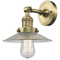 Innovations Lighting 203-AB-G2 Halophane 1 Light 9 inch Antique Brass Sconce Wall Light