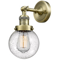 Innovations Lighting 203-AB-G204-6 Beacon 1 Light 6 inch Antique Brass Sconce Wall Light