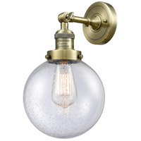 Innovations Lighting 203-AB-G204-8 Beacon 1 Light 8 inch Antique Brass Sconce Wall Light