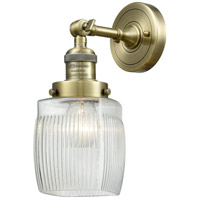 Innovations Lighting 203-AB-G302-LED Colton LED 6 inch Antique Brass Sconce Wall Light