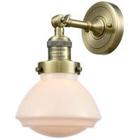 Innovations Lighting 203-AB-G321 Olean 1 Light 7 inch Antique Brass Sconce Wall Light Franklin Restoration