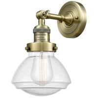 Innovations Lighting 203-AB-G324 Olean 1 Light 7 inch Antique Brass Sconce Wall Light Franklin Restoration