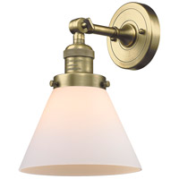 Innovations Lighting 203-AB-G41-LED Large Cone LED 8 inch Antique Brass Sconce Wall Light