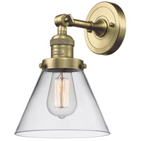 Innovations Lighting 203-AB-G42-LED Large Cone LED 8 inch Antique Brass Sconce Wall Light