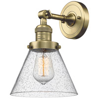 Innovations Lighting 203-AB-G44-LED Large Cone LED 8 inch Antique Brass Sconce Wall Light