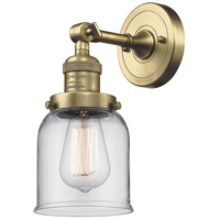 Innovations Lighting 203-AB-G52-LED Small Bell LED 5 inch Antique Brass Sconce Wall Light