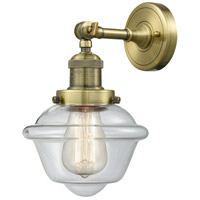 Innovations Lighting 203-AB-G532-LED Small Oxford LED 8 inch Antique Brass Sconce Wall Light
