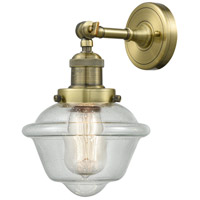 Innovations Lighting 203-AB-G534-LED Small Oxford LED 8 inch Antique Brass Sconce Wall Light