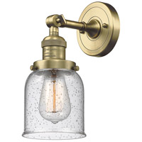 Innovations Lighting 203-AB-G54-LED Small Bell LED 5 inch Antique Brass Sconce Wall Light