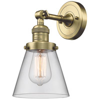 Innovations Lighting 203-AB-G62-LED Small Cone LED 6 inch Antique Brass Sconce Wall Light