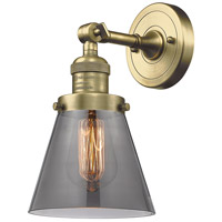 Innovations Lighting 203-AB-G63-LED Small Cone LED 6 inch Antique Brass Sconce Wall Light