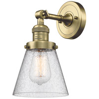 Innovations Lighting 203-AB-G64-LED Small Cone LED 6 inch Antique Brass Sconce Wall Light