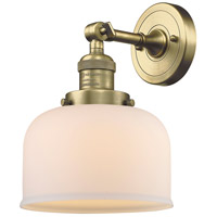 Innovations Lighting 203-AB-G71-LED Large Bell LED 8 inch Antique Brass Sconce Wall Light