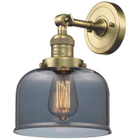Innovations Lighting 203-AB-G73-LED Large Bell LED 8 inch Antique Brass Sconce Wall Light