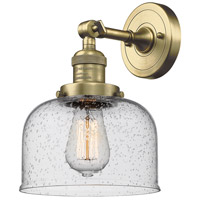 Innovations Lighting 203-AB-G74-LED Large Bell LED 8 inch Antique Brass Sconce Wall Light