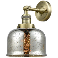 Innovations Lighting 203-AB-G78-LED Large Bell LED 8 inch Antique Brass Sconce Wall Light