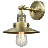Innovations Lighting 203-AB-M4 Railroad 1 Light 8 inch Antique Brass Sconce Wall Light, Franklin Restoration
