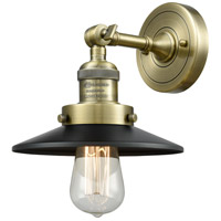 Innovations Lighting 203-AB-M6 Railroad 1 Light 8 inch Antique Brass Sconce Wall Light, Franklin Restoration