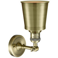 Innovations Lighting 203-AB-M9-AB Addison 1 Light 5 inch Antique Brass Sconce Wall Light, Franklin Restoration alternative photo thumbnail