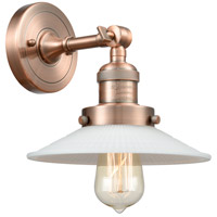 Innovations Lighting 203-AC-G1 Halophane 1 Light 9 inch Antique Copper Sconce Wall Light Franklin Restoration