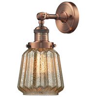 Innovations Lighting 203-AC-G146-LED Chatham LED 6 inch Antique Copper Sconce Wall Light