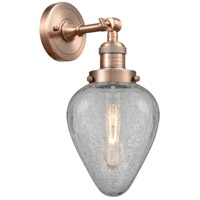 Innovations Lighting 203-AC-G165-LED Geneseo LED 7 inch Antique Copper Sconce Wall Light Franklin Restoration