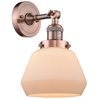 Innovations Lighting 203-AC-G171-LED Fulton LED 7 inch Antique Copper Sconce Wall Light